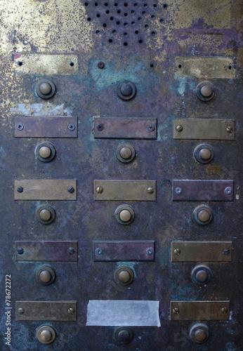 Retro Grungy Apartment Doorbell Buzzer Intercom