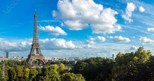 Photo Stands Paris Eiffel Tower in Paris, France
