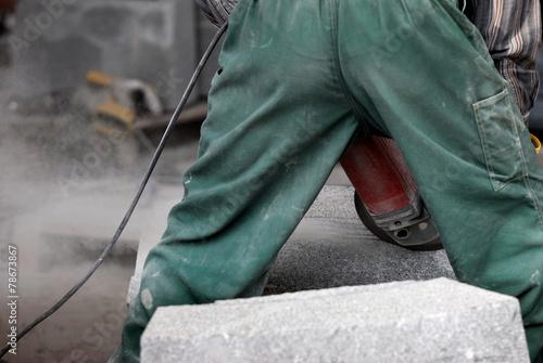 Fototapeta grinding, element, granite, abrasive, appliances, work, obraz na płótnie