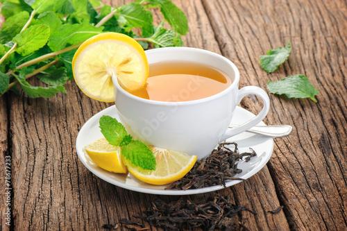 Foto auf Leinwand Tee lemon tea