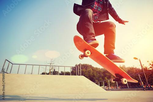 skateboarder skateboarding at skatepark