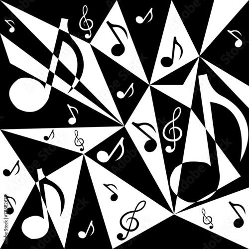 wektorowy-abstrakcjonistyczny-tlo-z-muzyk-notatkami-w-czarny-i-bialy-c