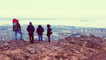 Tourists Enjoying View Of Edin...