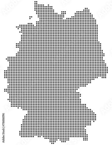 deutschland karte punkte Deutschlandkarte aus Punkten / Kreisen   Buy this stock vector and