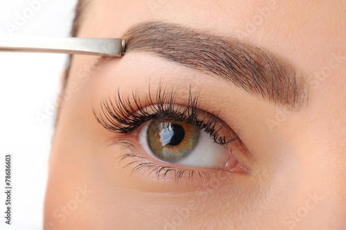 Fotografie, Obraz  Make-up. Obočí make-up. oči