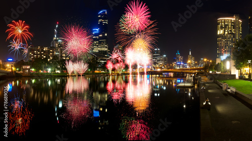 melbourne fireworks