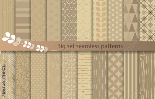 Poster Artificiel set patterns, pattern swatches included for illustrator user