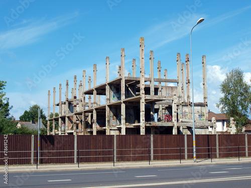 Foto op Canvas Stadion Destroy building