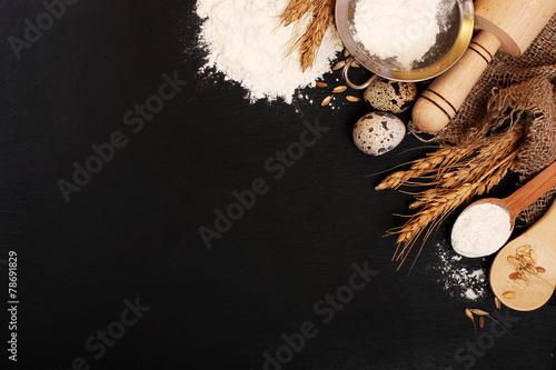 Fotografie, Obraz  Background baking. Rustic style
