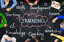 Diverse People Training Skills...
