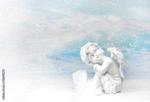Fotografie, Obraz  Träumender Engel: Glückwunschkarte