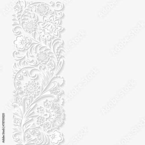 Fototapeta na wymiar Abstrakcyjny ornament kwiatowy
