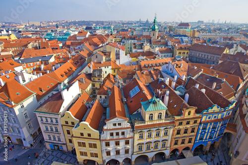 Foto op Aluminium Praag Prague vue de la tour de l'hôtel de ville