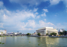 National Post Office And River In Downtown Manila Philippines