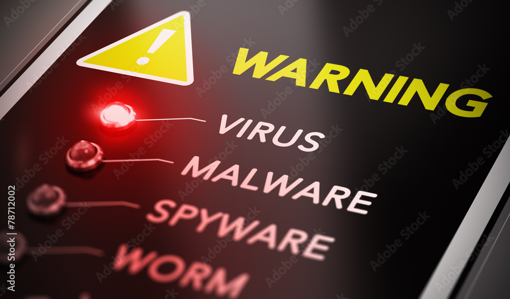 Fototapeta Virus Alert