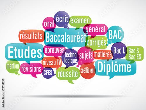 Fototapety, obrazy: nuage de mots : Baccalauréat