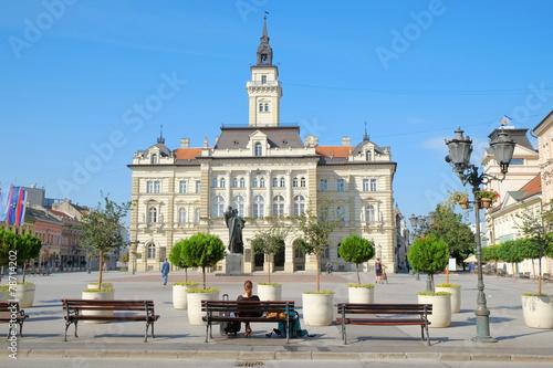 Plakat Główny Plac I Urząd Miasta Novi Sad, Serbia