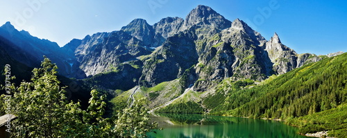 Fototapeta Beautiful glacial lakes in Polish Tatra mountains obraz
