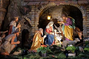 Nativity scene in Franciscan Church in Graz, Austria
