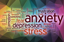 Anxiety Word Cloud With Abstra...