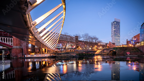 Castlefield Manchester UK Canvas Print