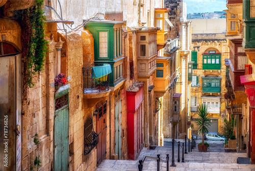 Fototapeta Street of Valletta town obraz