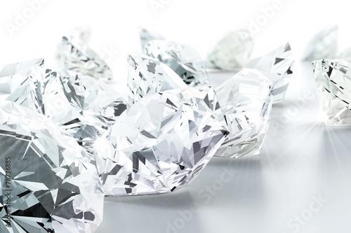 Naklejka na szybę brilliant diamond jewel (high resolution 3D image)