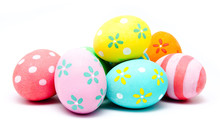 Colorful Handmade Easter Eggs ...
