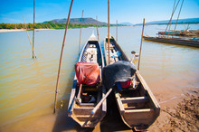 Chiam Mekong River In Thailand.
