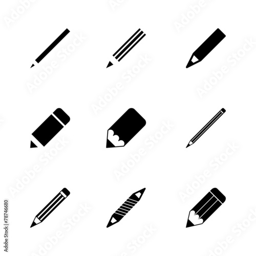 Fotografija Vector pencil icon set