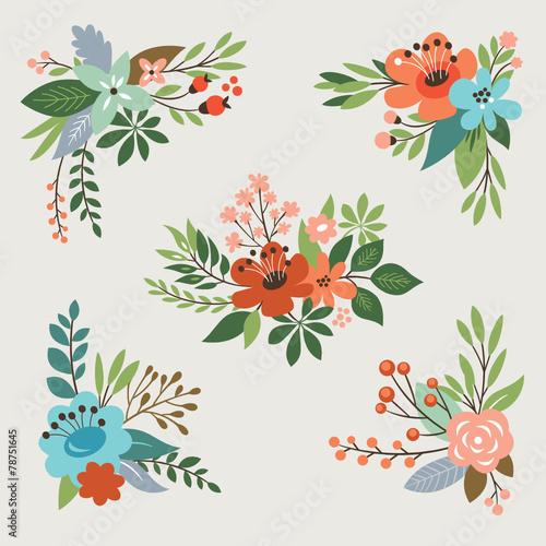 kolekcja-kwiatowy-sztuka-wektor