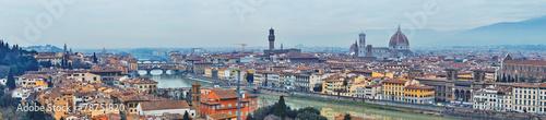 Spoed Foto op Canvas Krakau Panoramic view of Arno River