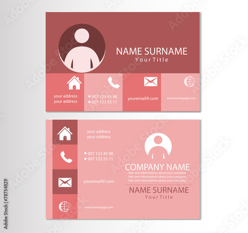 Visitenkarte Design Vorlage Buy This Stock Vector And