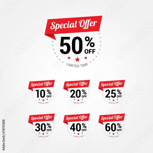 Fotografía  Special Offer % Labels
