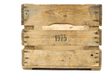 Old Vintage Wooden Crate On A ...