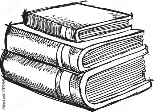 La pose en embrasure Cartoon draw Doodle Sketch Books Vector Illustration Art