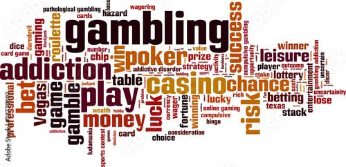 Gambling word cloud concept. Vector illustration плакат