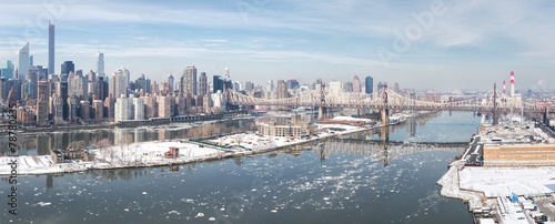 Wall Murals New York New York City in Winter, panoramic image
