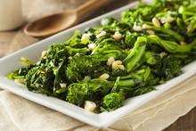 Homemade Sauteed Green Broccol...
