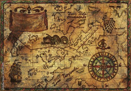 recznie-rysowane-mape-piratow-z-stary-tekstura-tkanina
