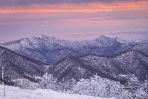 Winter Sunset at Roan Mountain