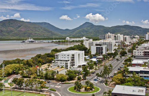 Canvas Print aerial view Cairns QLD