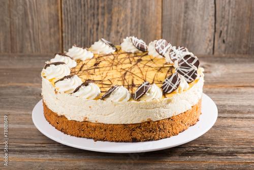 Fotografie, Obraz  Eierlikör-Kokos-Torte