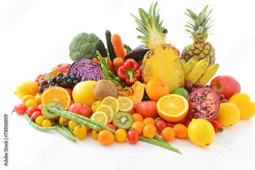 Foto op Aluminium Vruchten 新鮮な野菜と果物