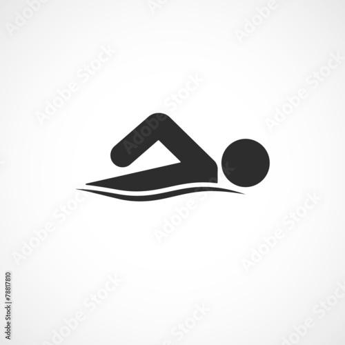 Fotomural piscine-nager