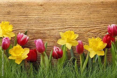 kwiat-z-trawa-na-drewnianym-tle