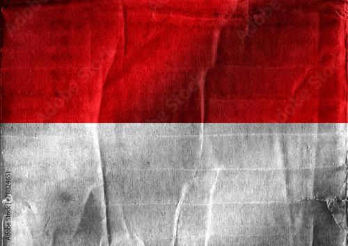 Fototapete - National flag of Monaco themes idea design