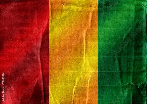 Fototapete - Guinea flag themes idea design