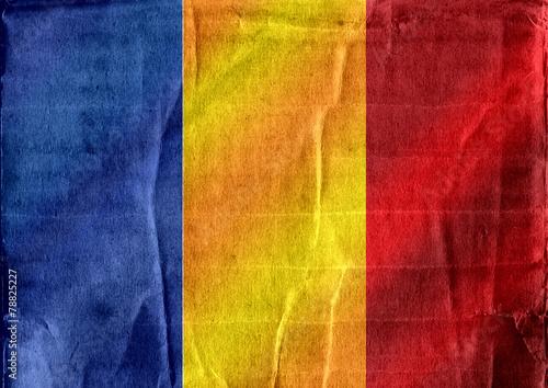 Fototapete - Chad flag themes idea design