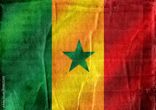 Fototapete - Senegal flag themes idea design